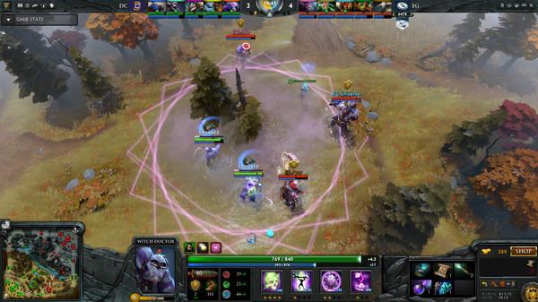 بازی استراتژیک واقعیت مجازی Dota 2 اچ تی سی وایو