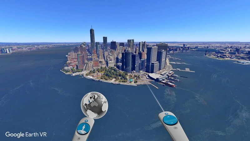 برنامه Google Earth VR