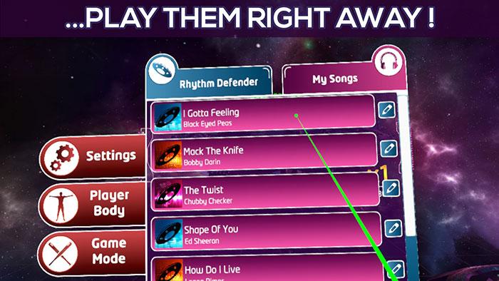دانلود بازی Rhythm Defender برای عینک واقعیت مجازی2